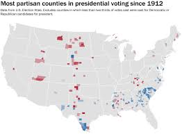 1972 Election Map by The Counties That Were The Most Heavily Partisan In Every Election