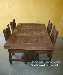 Carved Dining Table And Chairs Mexican Carved Chairs Table Doors