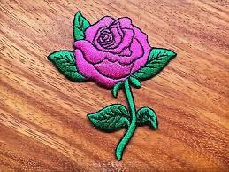 black rose tattoo biker love retro embroidered applique iron on