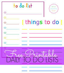 free printable rainbow stationery colorful printable daily checklist for keeping up with stuff