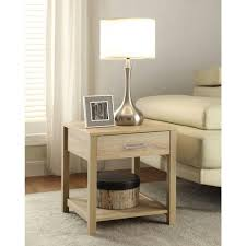 linon home decor aspen blonde storage end table 84028asp 01 kd u