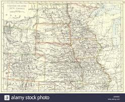 Iowa Usa Map by Usa Nw Central Dakota Wyoming Colorado Kansas Iowa Missouri Stock