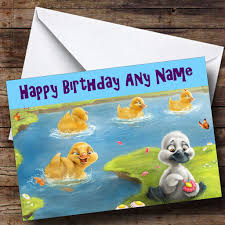 ugly duckling personalised birthday card the card zoo