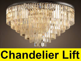 Chandelier Hoists How To Make A Chandelier Lift