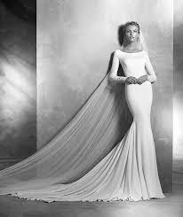 robe de mariã e pronovias atelier pronovias ivania wedding dress crepe mermaid wedding