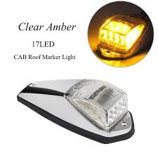 aliexpress buy 1 17led clear yellow car cab roof marker