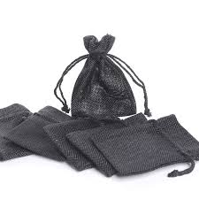 burlap drawstring bags black burlap drawstring favor bags bags basic craft supplies