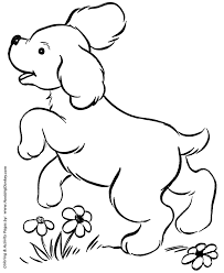 dog coloring pages printable cute puppy playing coloring page