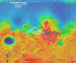 Mars Map Mars Elevation Map Eclipse Phase