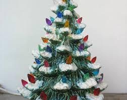 ceramic light up christmas tree vintage 18 5 ceramic light up christmas tree with multi