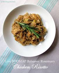 Fod Map Balsamic Rosemary Chicken Risotto U2013 Low Fodmap Fructose Friendly