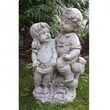 boy with teddy garden statue onefold uk