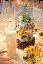 birdcage centerpieces creative idea table centerpiece idea with colorful flowers