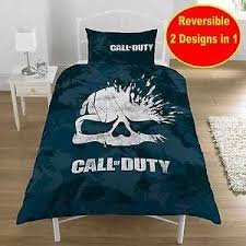new call of duty cod u0027skull u0027 game single duvet quilt cover set