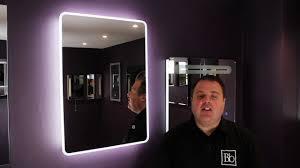 iridium by cassellie led universal bathroom mirror youtube