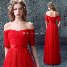 formal design simple red white dress evening with pleats ladies