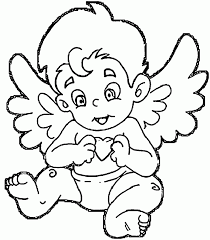 angels coloring pages sad tiny angel sheets free pdf printable