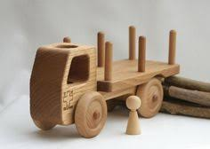Build Big Wooden Toy Trucks by Wooden Truck Toy Log Trailer Dump Toddler Preschool Childrens