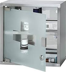 Stainless Steel Medicine Cabinet by Wall Mounted Lockable Stainless Steel Medicine Cabinet With 2