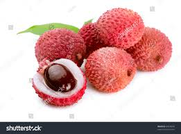 lychee fruit candy fresh lychees litchi chinensis isolated on stock photo 84578245