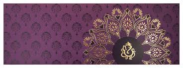 modern hindu wedding invitations hindu wedding invitation with flower design in purple