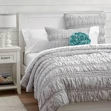 light gray twin comforter ruched quilt sham light gray pbteen teen girls room