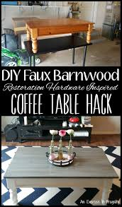 diy barnwood coffee table an exercise in frugality