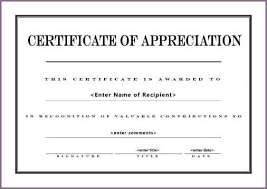 certificate of appreciation template proposalsampleletter com