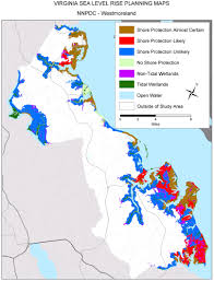 Map Of Virginia Beach Sea Level Rise Planning Maps Likelihood Of Shore Protection In