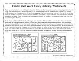 hidden cvc word family worksheets cvc vol 1 heidisongs