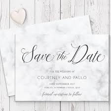 wedding save the date cards marble modern script wedding save the date card luxury