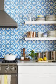 blue kitchen backsplash white cabinets 20 chic kitchen backsplash ideas tile designs for kitchen