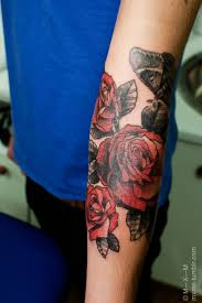 flower forearm tattoo designs 197 best rose tattoos images on pinterest drawings red rose