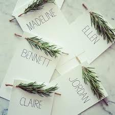 these name cards for the table settings for a winter