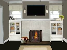 contemporary design living room with faux fireplace heater and