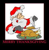 merry thanksgiving from santa claus thanksgiving
