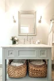 Bathroom Open Shelving Vanities This Pretty Bathroom Open Vanity Bath Storage Open