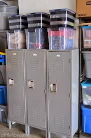 Laundry Room In Garage Decorating Ideas by Garage Mud Room With Metal Lockers A Little Tipsy
