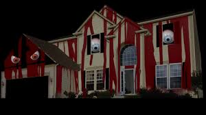 haunted house projection mapping before after 7