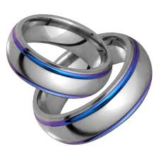 titanium wedding ring sets magnolia titanium wedding band set choose your color wedding