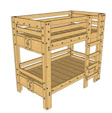 Plans For Making A Bunk Bed by Bunk Bed Plans Bed Fort Plans Loft Bed Plans