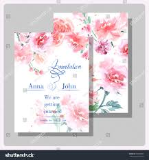 Wedding Invitations Card Wedding Invitation Cards Wild Rose Use Stock Vector 290580005