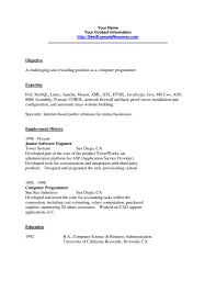 Resume Jobs Unix by Sample Resume Computer Programmer Resume For Your Job Application