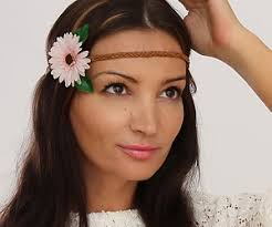 hippie hair bands hippie hair jewelery fashion accessory diy tutorial for a flower