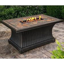 slate fire pit table gas fire pit table rectangular slate topped gas table with red lava