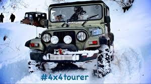 mahindra jeep 2016 mahindra thar snow drive expedition narkanda india youtube