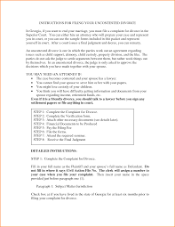 Child Support Letter Agreement 10 Georgia Divorce Papers Loan Application Form