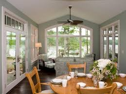 sunroom interior colors paint window trims white to brighten up