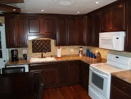 Can You Stain Kitchen Cabinets Darker Stained Kitchen Cabinets