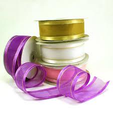 spools of ribbon maple craft organza satin edge gold stripe ribbons 1 5 spool